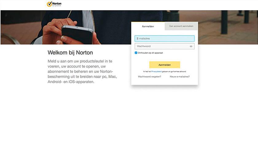 Norton productsleutel code invoeren