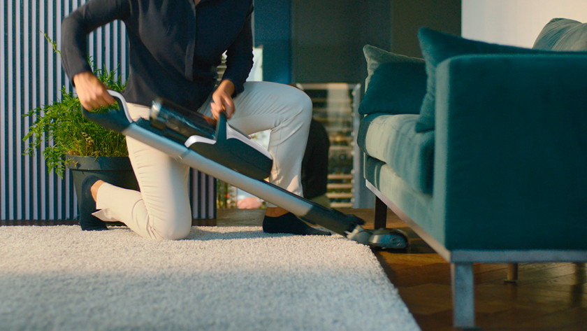Easily under furniture