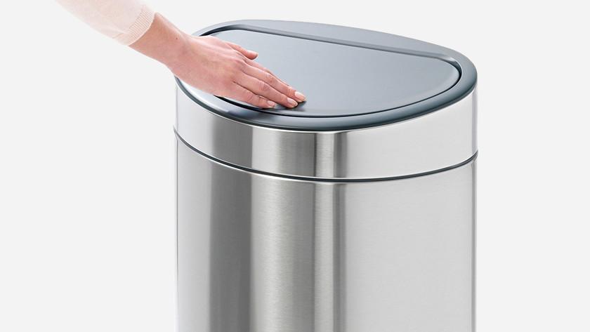 prullenbak met soft touch voor openen deksel