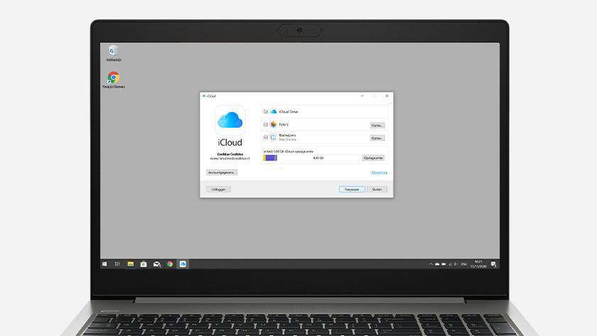 Inloggen iCloud op Windows