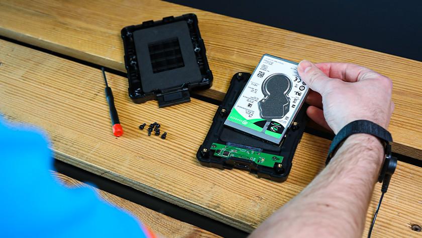 2,5 inch SSD hardeschijf behuizing
