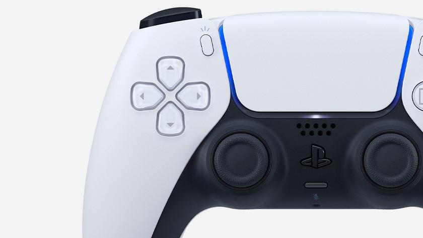 Close up PlayStation 5 controller