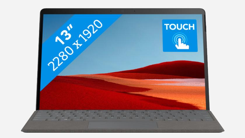 Microsoft Surface Pro X met Microsoft SQ2 processor.