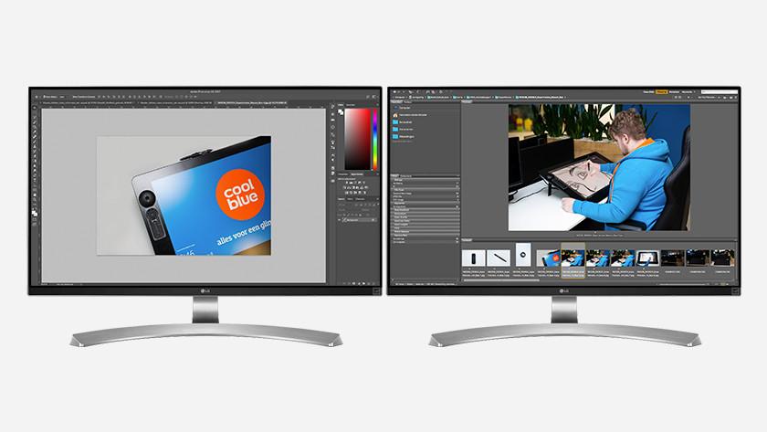 2 monitors graphic design