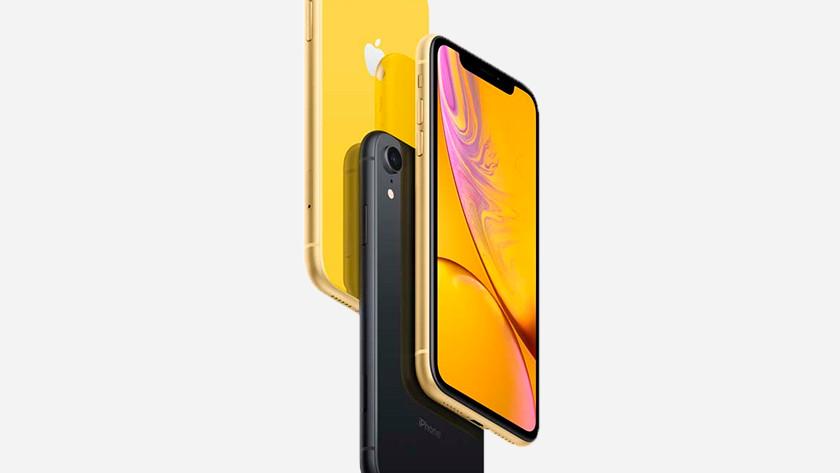 iPhone Xr zwart en geel