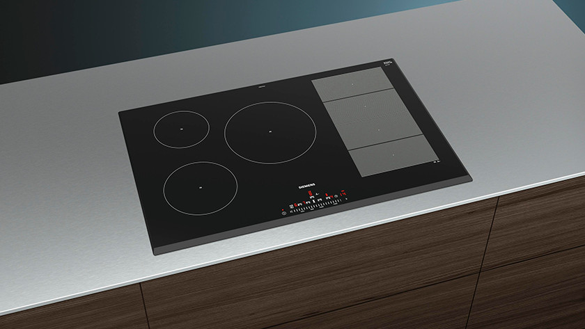 2-stage cooktop in a countertop