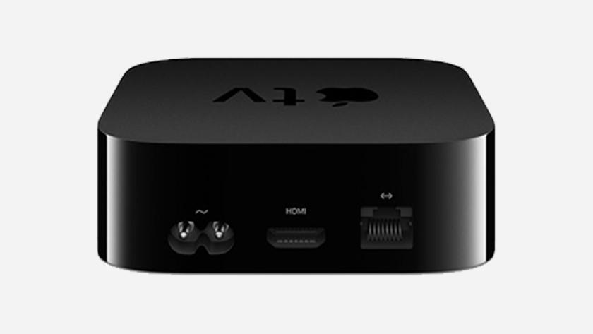 Welke kabels sluit je aan op Apple TV
