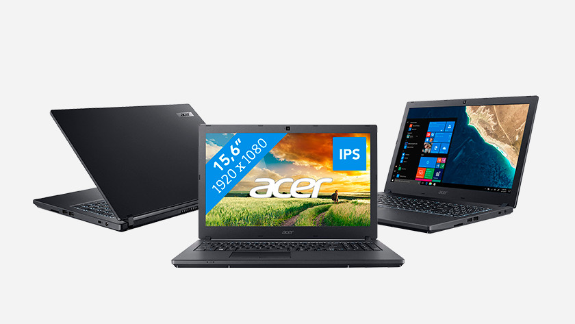 Three Acer Travelmate laptops.
