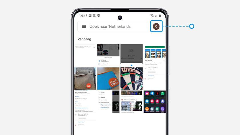Google Foto's reservekopie smartphone