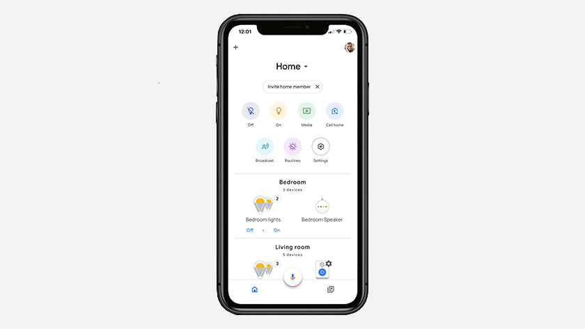 House in Google Home app