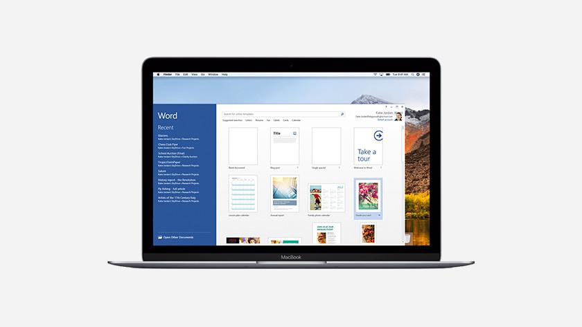 Excel op MacBook