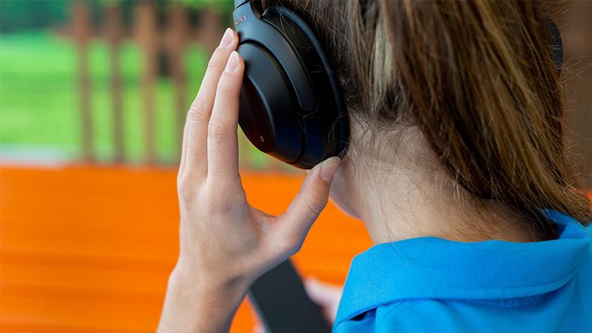Connect headphones