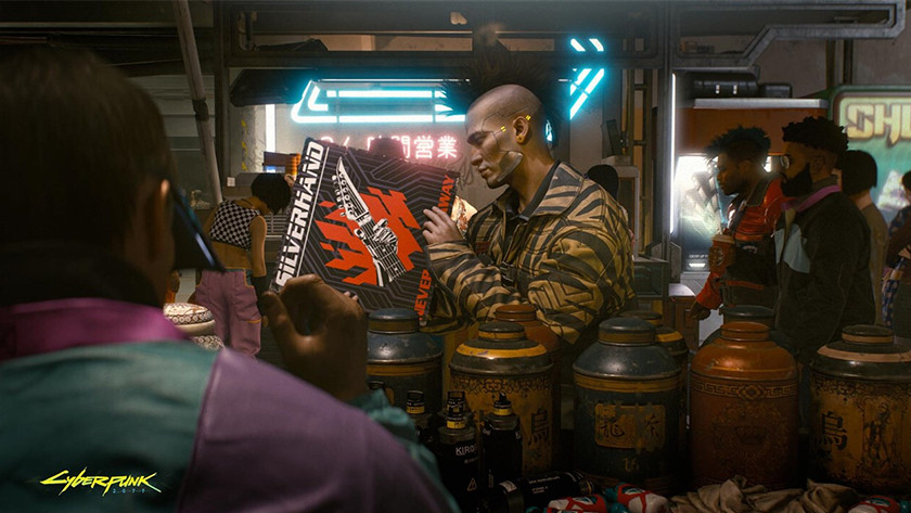 Gameplay van Cyberpunk 2077.