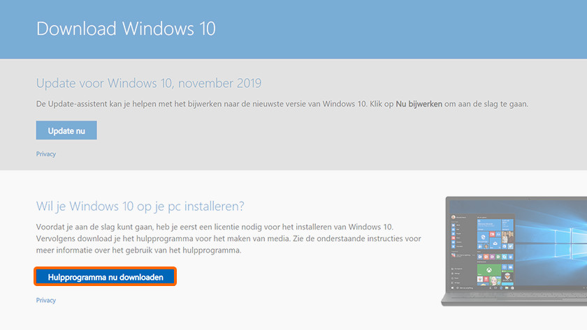 Clean install of Windows