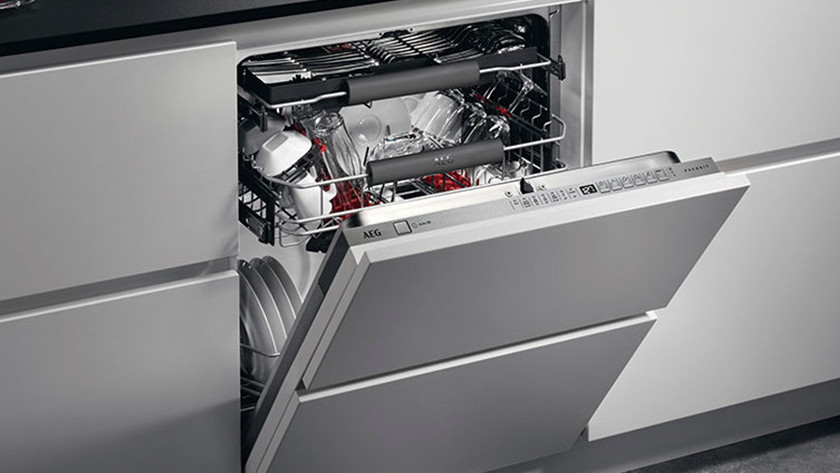 Dishwasher half open