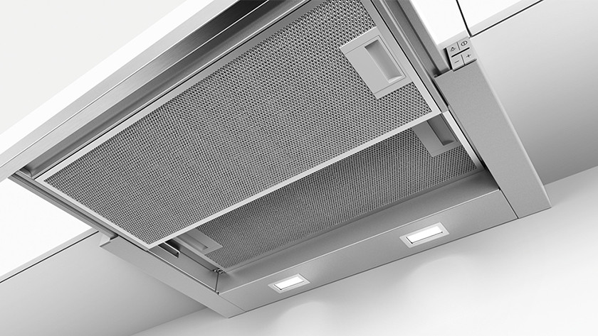Slide-out range hood