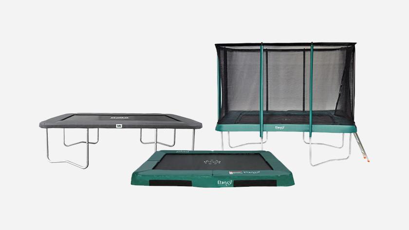 Vierkante trampolines