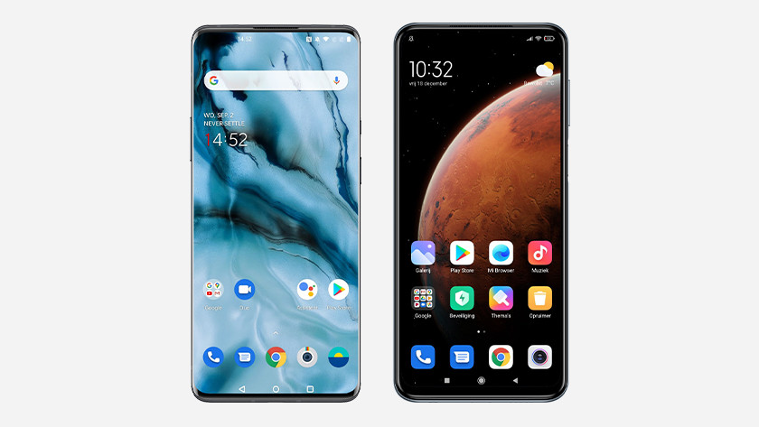 Verschillende Android schillen