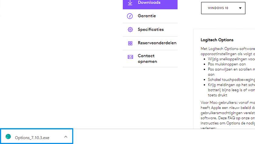 Klik op het .exe bestand