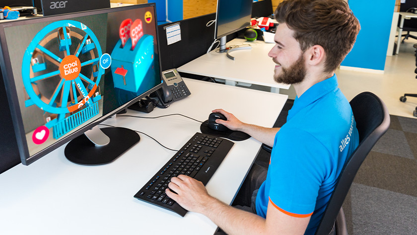 Dominante oog achterhalen voor duo setup monitoren