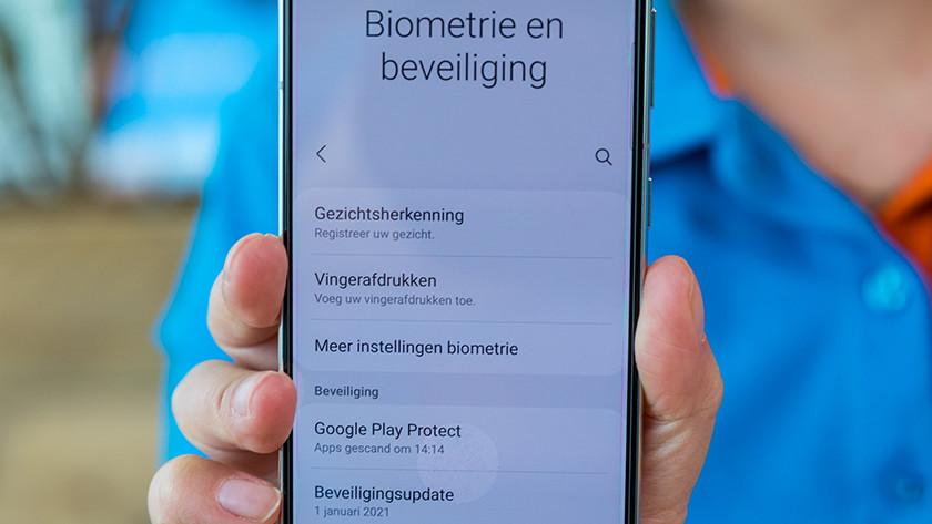 menu smartphone
