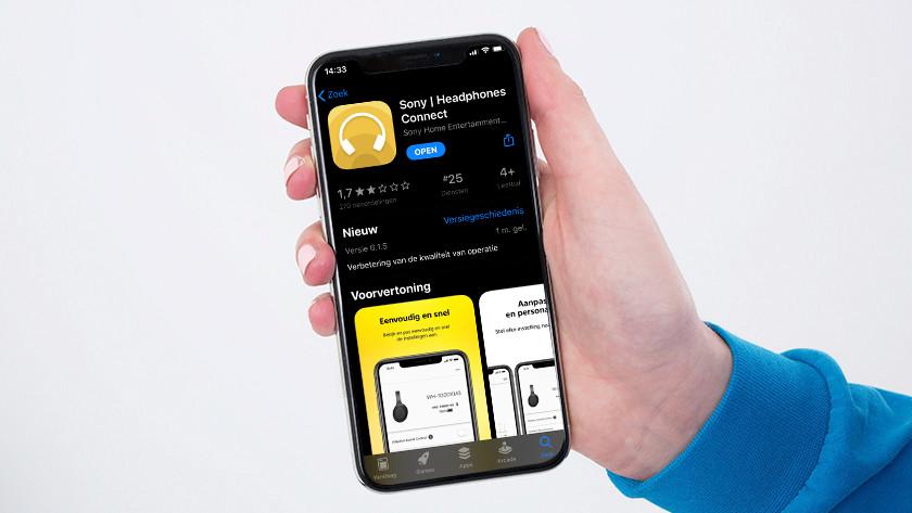 Smartphone in handen