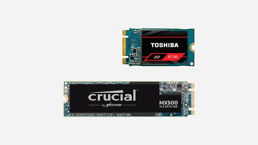 2 SSDs that differ in length