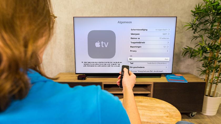 Schakel Siri in voor optimaal gebruik van Apple TV.