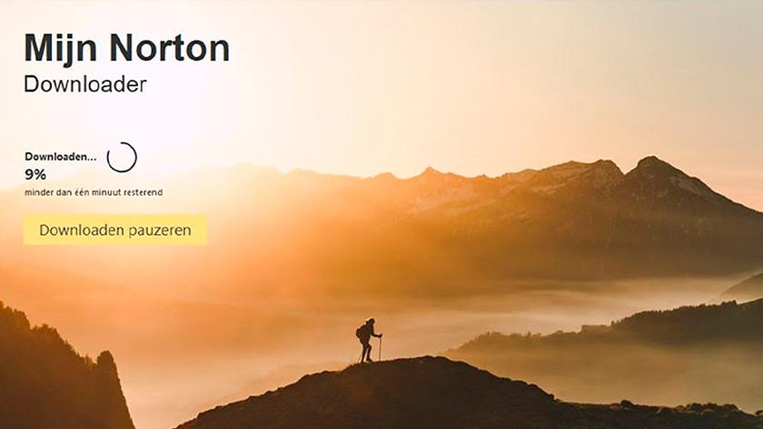 Norton downloaden bezig
