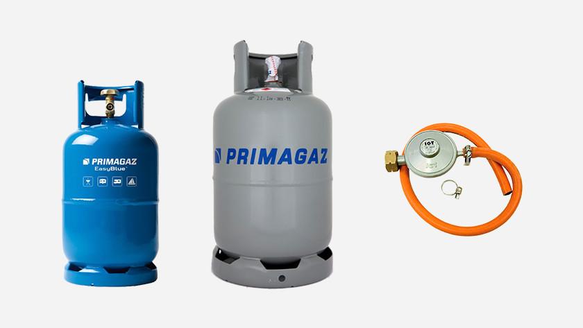 Gas bottles and pressure regulator