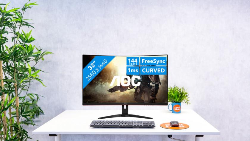 32 inch gaming monitor van AOC
