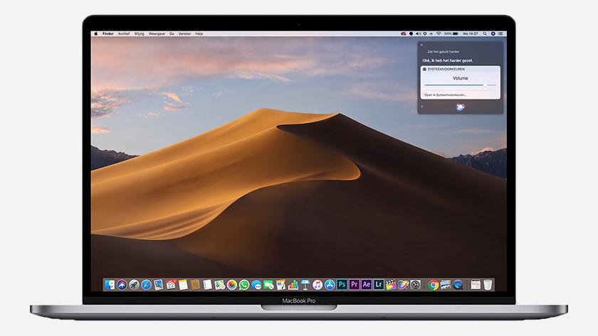 Siri on MacBook