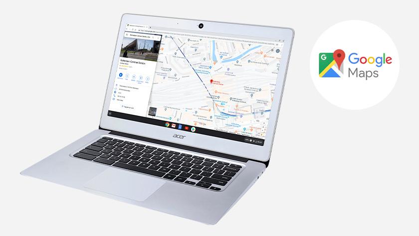 Google Maps on an Acer Chromebook