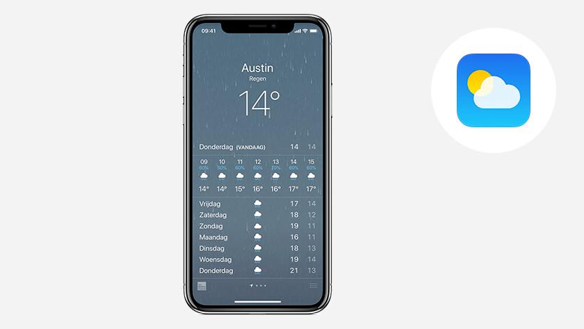 Apple iPhone iOS Weer app