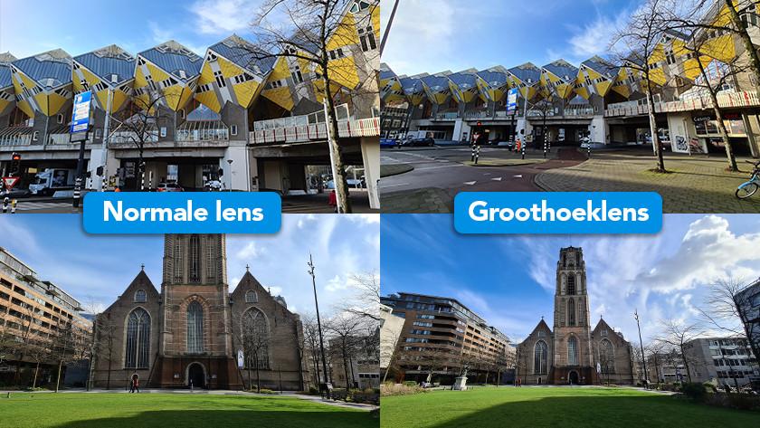 Verschil normale lens groothoeklens