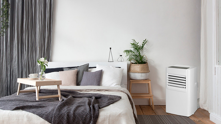 Portable air conditioner in bedroom