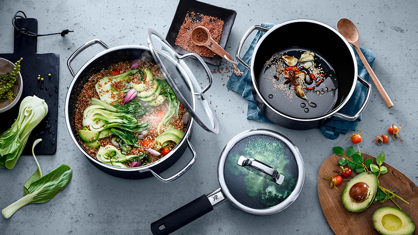 WMF cookware with food