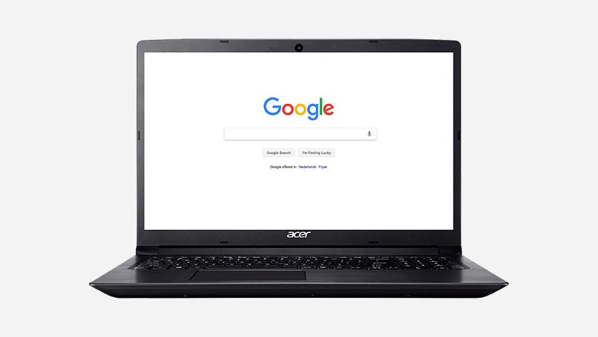Google on an Acer laptop.