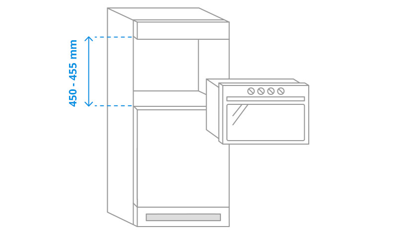 Niche height microwave