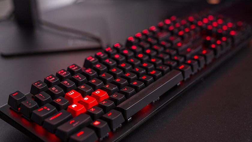 A gaming keyboard.