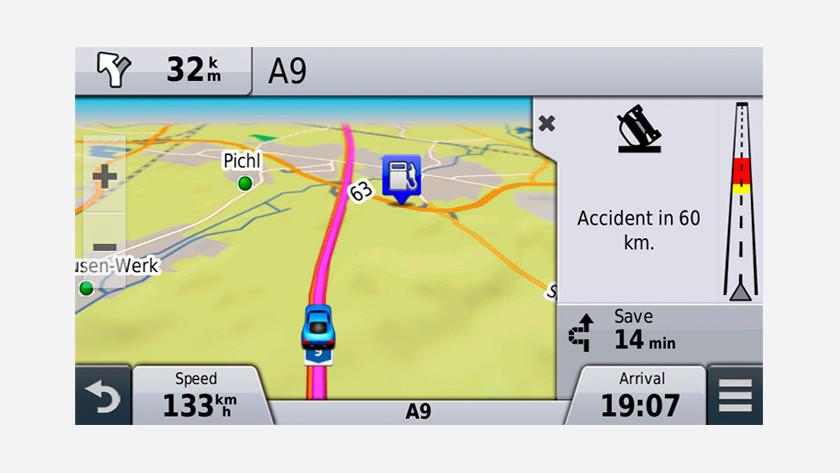 Verkeersinformatie navigatie