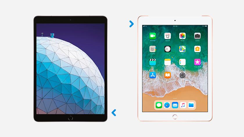 Simkaart houder plek op iPad