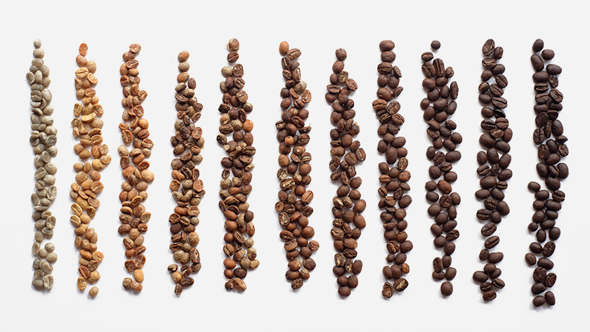 dark or lightly roasted coffee beans