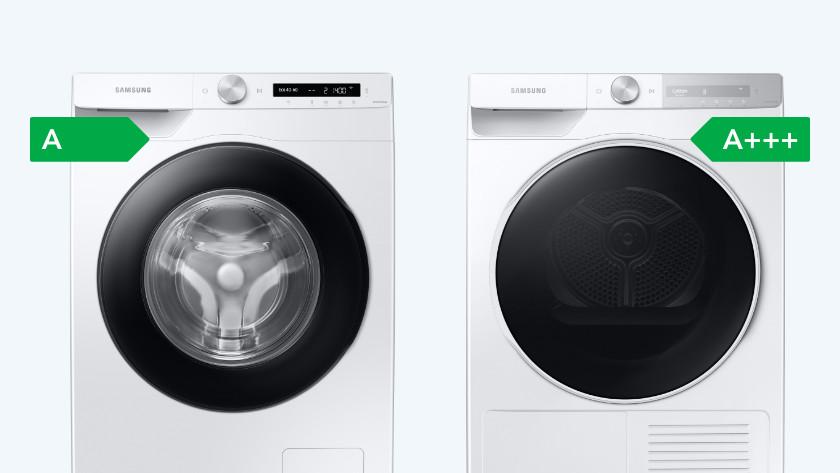 Wasmachine en wasdroger set