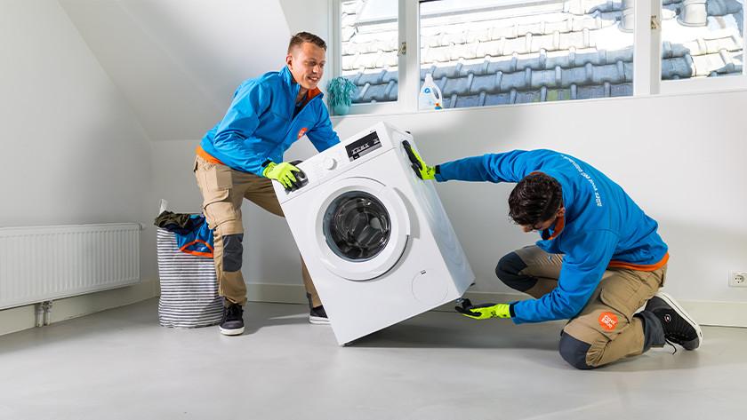 Wasmachine kantelen