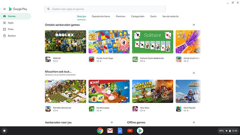 Google Play Store op een Chromebook gebruiken.