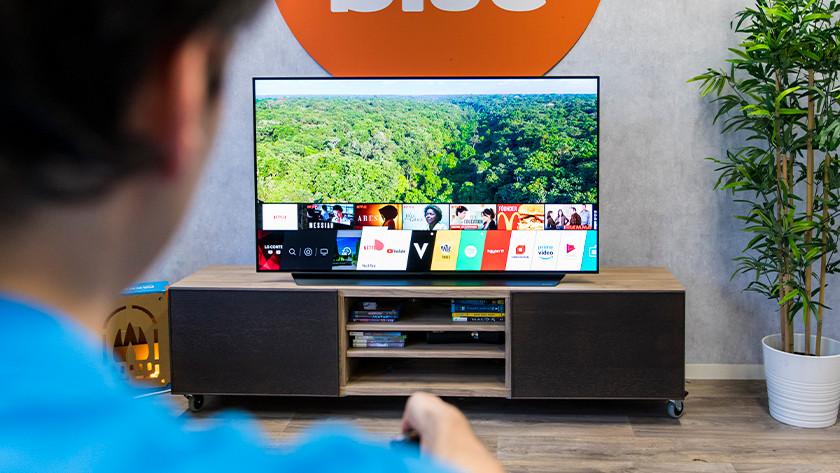 Het WebOS smart platform van de LG C9