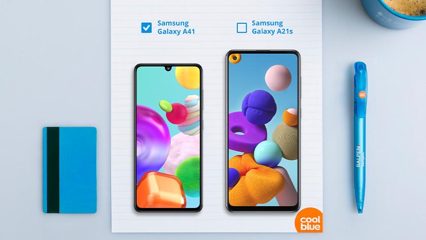 Samsung A41 vs A21s formaat