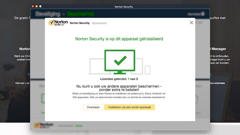 Norton installatie geslaagd