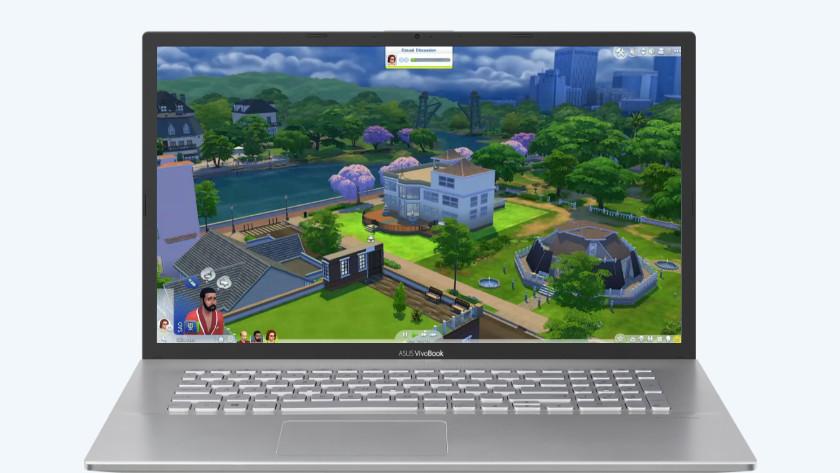Asus laptop met de Sims 4.
